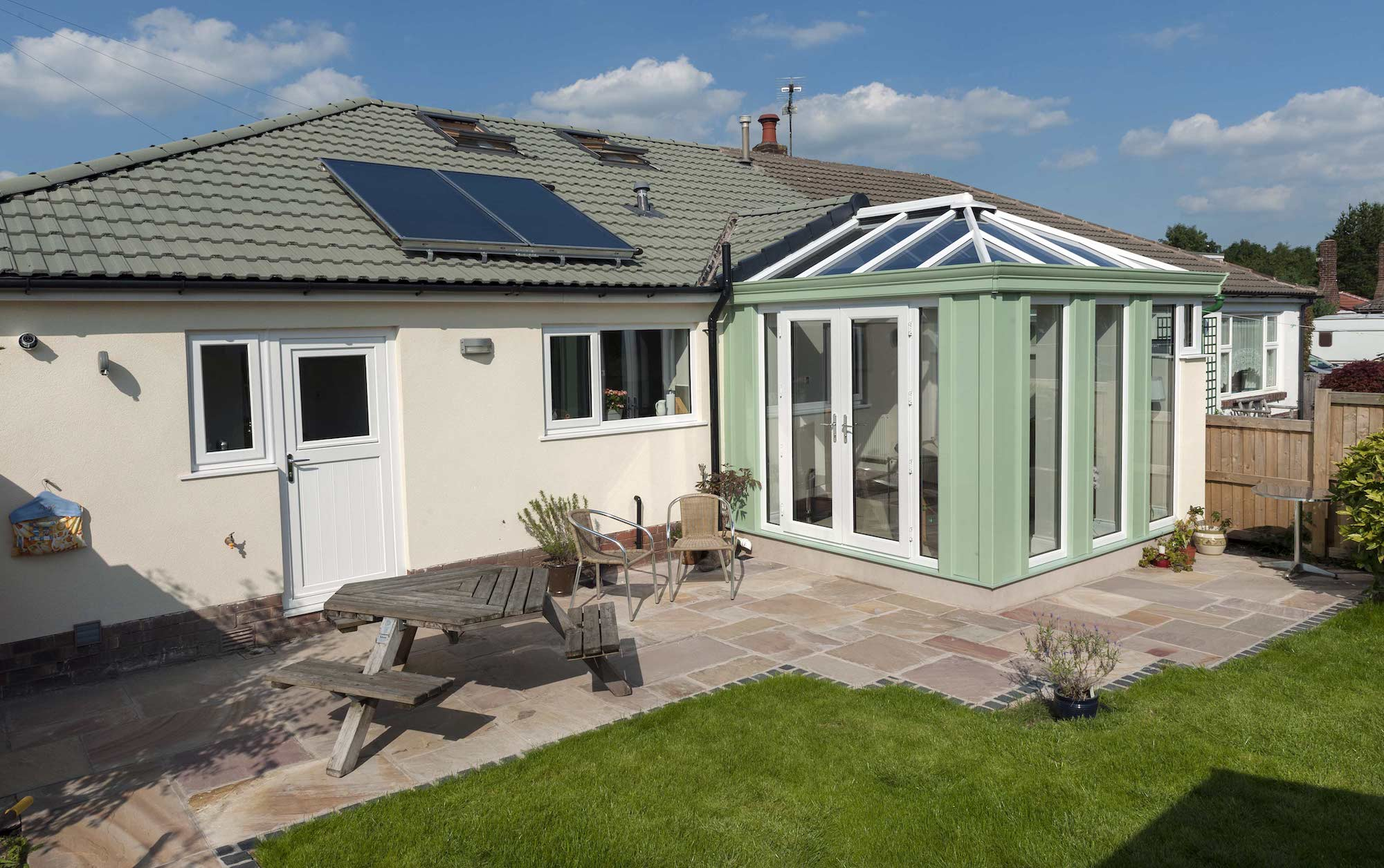 Tiled Roof House Extension Manchester Tiled Home