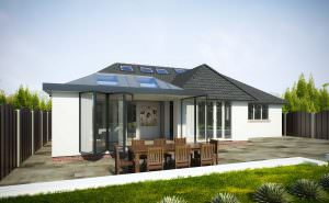 Modern Extension with Bi-Fold Doors, Derbyshire